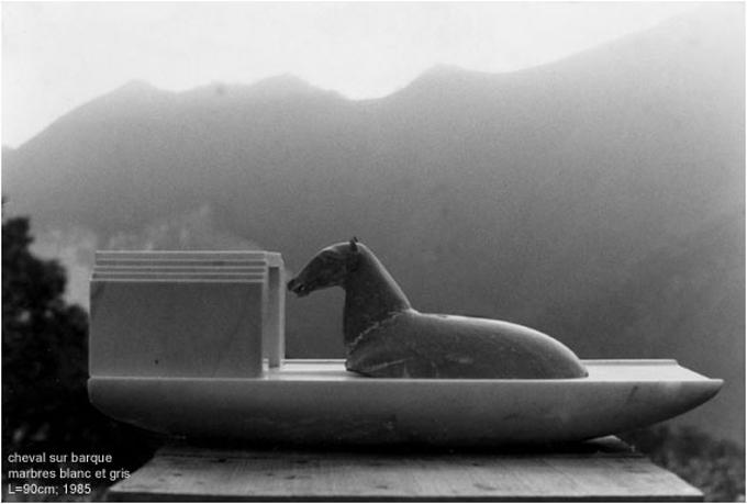 Cheval sur barque